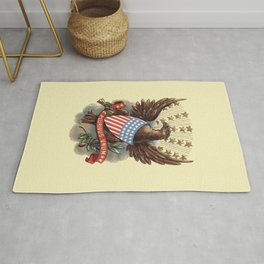 E pluribus unum - Out of many, one - vintage United States Bald Eagle hand drawn illustration Rug