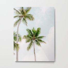 For the love of palm trees | Dominican Republic travel photography print | Summer time Metal Print