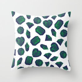 Retro Vintage St Patricks Day Green Gems Throw Pillow