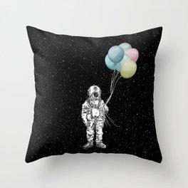 Space Trip Celebration Throw Pillow