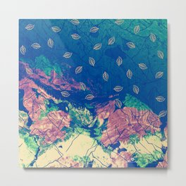 Abstract nature in the mountains Metal Print