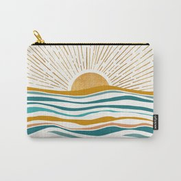 The Sun and The Sea - Gold and Teal Carry-All Pouch