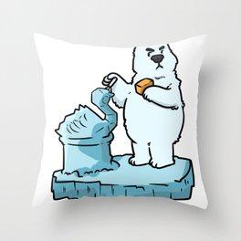 Bear North Pole Gift Brown Panda Funny Cool Throw Pillow