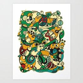 Mouse - 12 ANIMAL SIGNS Art Print