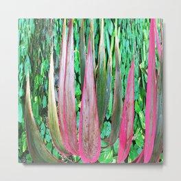 359 - Abstract Plant Design Metal Print