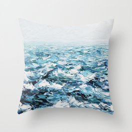 Atlantic Blues Throw Pillow