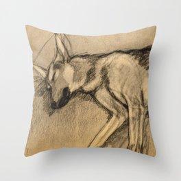 Sleeping Shepherd in Charcoal Throw Pillow