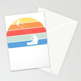 "Retro ""Kite"" T-shirt Design Kitesurfer Kitesurfing Bridle Tail Wind Park Festival Anchor Silhouette Stationery Cards"