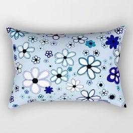The Answer: Blue Rectangular Pillow