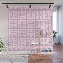 Greek Key (Pink & White Pattern) Wall Mural