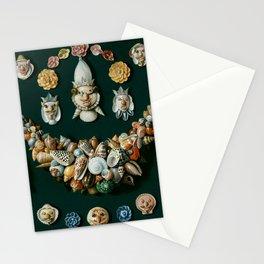 "Jan van Kessel de Oude ""Festoon, masks and rosettes made of shells"" Stationery Cards"