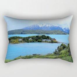 Lago Pehoe Patagonia de Chile Rectangular Pillow