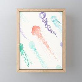 Jellyfish festival Framed Mini Art Print