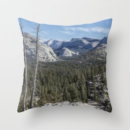 The North View Towards Tenaya Lake from Olmsted Point Throw Pillow