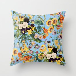 Summer Garden IV Throw Pillow