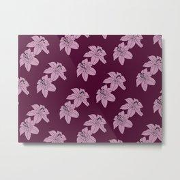 Lily The Tiger - Purple Metal Print