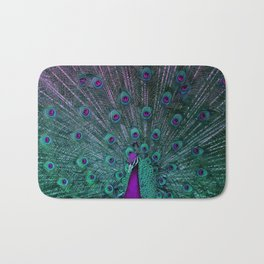 BLOOMING PEACOCK Bath Mat