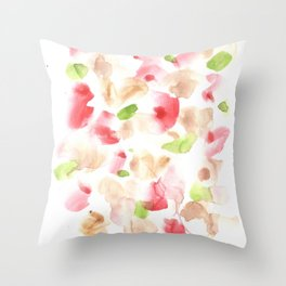 170722 Colour Loving 1|Modern Watercolor Art | Abstract Watercolors Throw Pillow