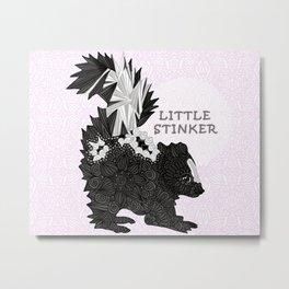 Little Stinker -pink- Metal Print
