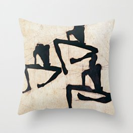Egon Schiele Composition with Three Figures Throw Pillow