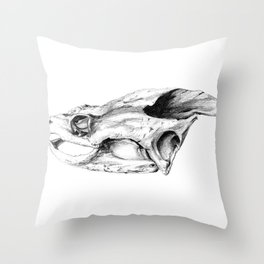 Snapping Turtle Skull Throw Pillow