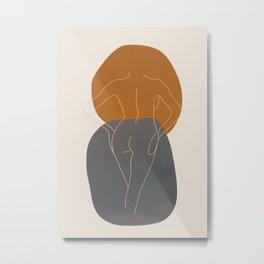 Line Female Figure 82 Metal Print