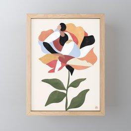 Flower (terracotta) Framed Mini Art Print