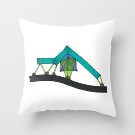 Abstract Geometric Tent Spaceship106 Throw Pillow