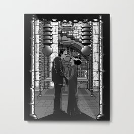 The Monster's bride. Metal Print