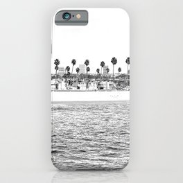 Vintage Newport Beach Print {4 of 4} | Photography Ocean Palm Trees B&W Tropical Summer Sky iPhone Case