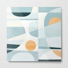 Del Mar Modern Abstract Geometric Pattern Metal Print