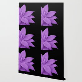 Agave Finesse #10 - Purple on Black #tropical #decor #art #society6 Wallpaper