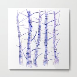 Birches I Metal Print