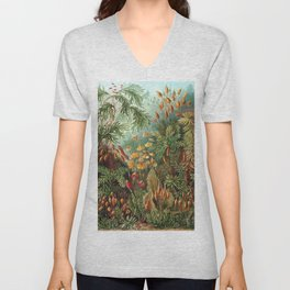 Vintage Plants Decorative Nature Unisex V-Neck