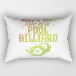 Just A Girl Who Loves Pool Billiard Player Women Rectangular Pillow