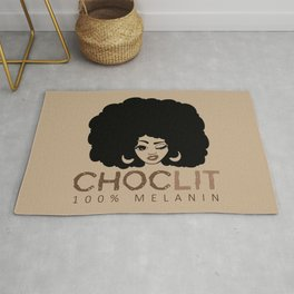 Choclit Black Woman Afro Rug