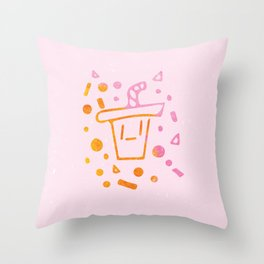Soda Sippy Throw Pillow