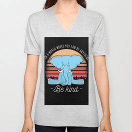 Elephant Elephant Shirt Saying Unisex V-Neck