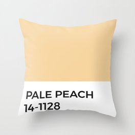 Pale Peach Pastel Orange Pantone Chip Throw Pillow