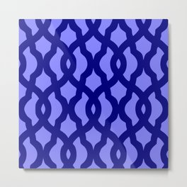 Grille No. 2 -- Blue Metal Print