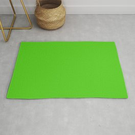 Simple Solid Color Yellow Green All Over Print Rug