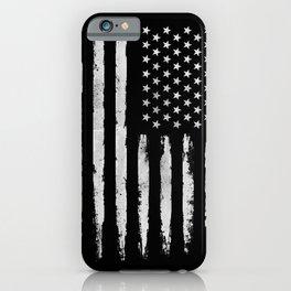 White grunge American flag iPhone Case