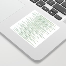 Thin Green Lines Swaying Sticker