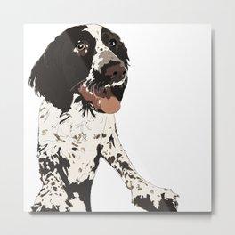English Springer Spaniel Dog b/w multi Metal Print