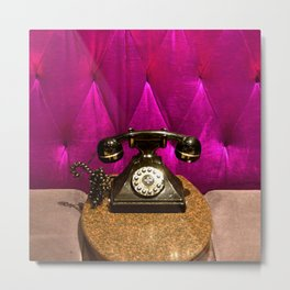 Vintage, Elegant French Telephone Metal Print
