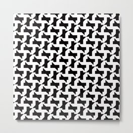 Geometric Pattern 250 (sharp shapes) Metal Print
