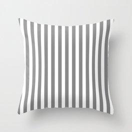 STRIPED DESIGN (GREY-WHITE) Throw Pillow