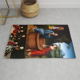 "Lucas Cranach the Elder ""Christ and the Samaritan Woman"" Rug"