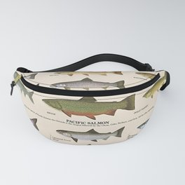 Illustrated Western Game Fish Identification Chart Fanny Pack