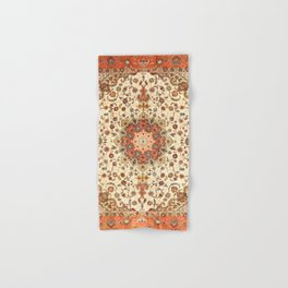 N71 - Orange Antique Heritage Traditional Moroccan Style Mandala Artwork Hand & Bath Towel